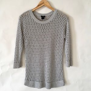 Ann Taylor // semi shiny tunic sweater M